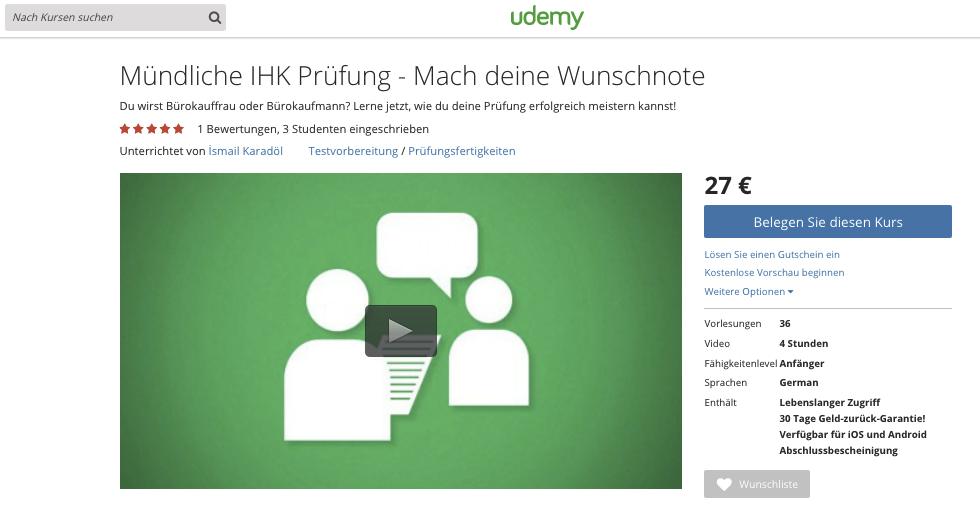 Screen MP Udemy